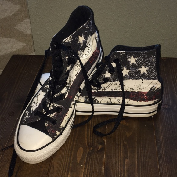 1a0d50c566ea5b Converse Shoes - Red Hot Chili Peppers Flag Converse